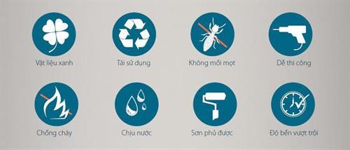 Đặc tính nổi bật của tấm tiêu chuẩn PVC