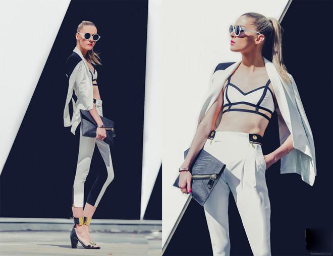 Phối đồ đen trắng cực chất từ fashionista nổi tiếng thế giới 2